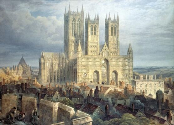 Lincoln Cathedral from the North West, c.1850