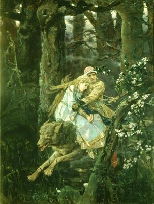 Ivan Tsarevich riding the Grey Wolf, 1889
