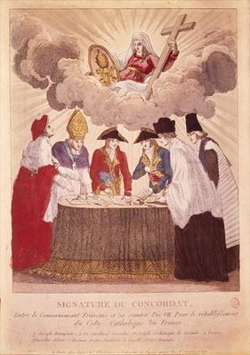 Signing the Concordat between Napoleon and Pope Pius VII, 15th July 1801