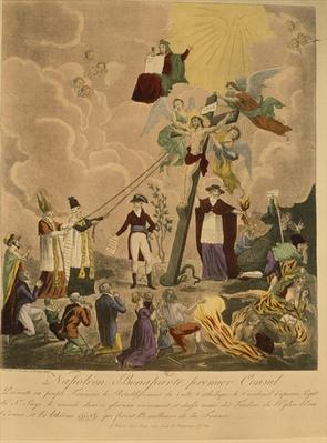 Allegory of the re-establishment of the Catholic religion in France in 1802 under Napoleon Bonaparte as First Consul, 1802