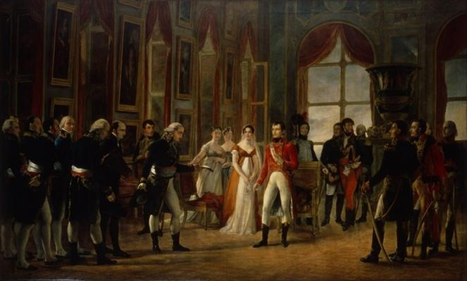 Napoleon receiving the senators and declaring himself emperor, 18th May 1804