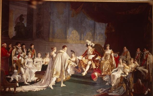 The espousal of Prince Jerome Bonaparte and Princess Catharina Frederica of Wuerttemberg, in Paris, 22nd August 1807