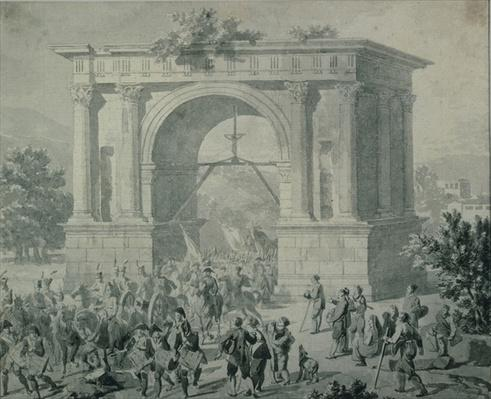 The entrance of French troops to A'Osta in May 1800