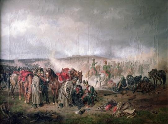 The death of Count Seinsheim at the Battle of Borodino in 1812, 1862