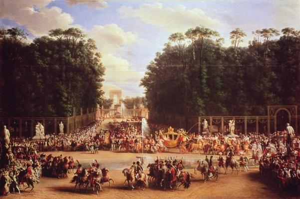 The Entry of Napoleon and Marie-Louise into the Tuileries Gardens on the Day of their Wedding, 2nd April 1810
