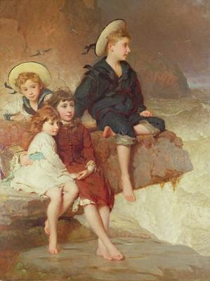 The Children of Sir Hussey Vivian at the Seaside