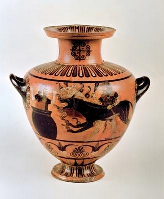 Archaic Ionian Hydria depicting Heracles Bringing Cerberus to Eurystheus, from Cerveteri, c.530 BC