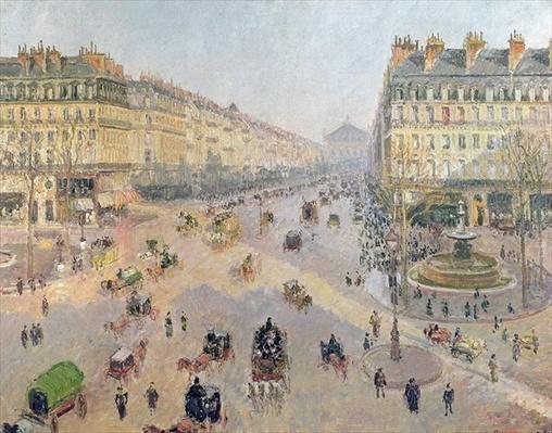 The Avenue de L'Opera, Paris, Sunlight, Winter Morning, c.1880