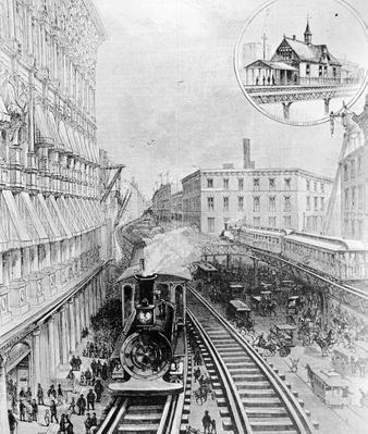 Early El Train   Evolution of the Railroad (Engine)