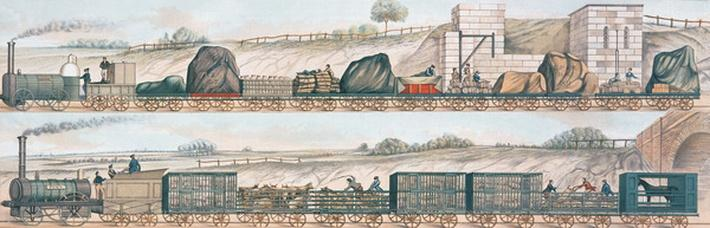 Liverpool and Manchester Railway: Freight and livestock