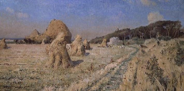 Corn Stooks in a Field