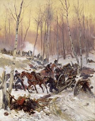 Artillery Combat in a Wood during the Siege of Paris, 1870-71