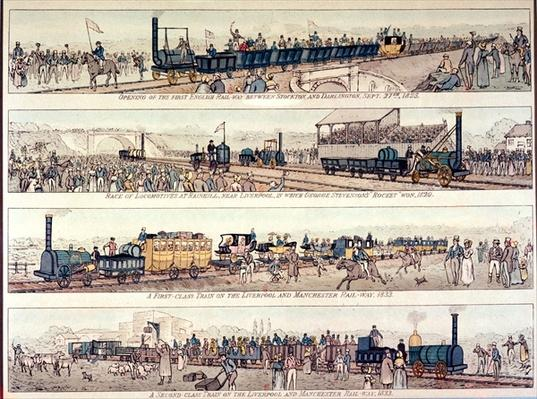 The opening of the Stockton and Darlington railroad