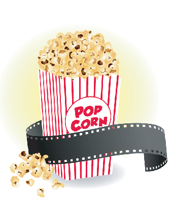 Movie with Popcorn | Clipart