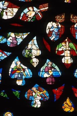 North rose window, detail