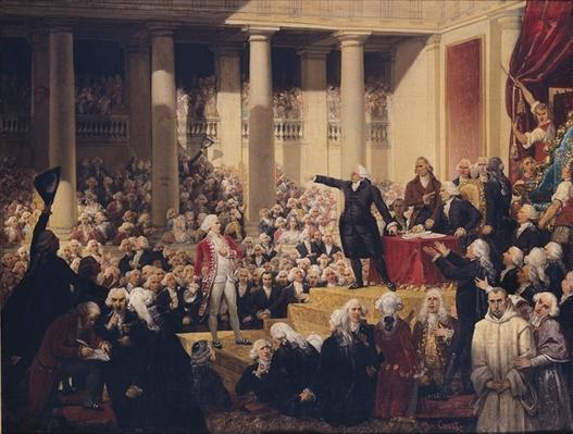 Mirabeau and Monsieur de Dreux-Breze at the Assemblee des Deputes, 23rd June 1789