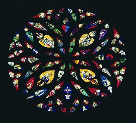 North window, 1512 by French School, (16th century)