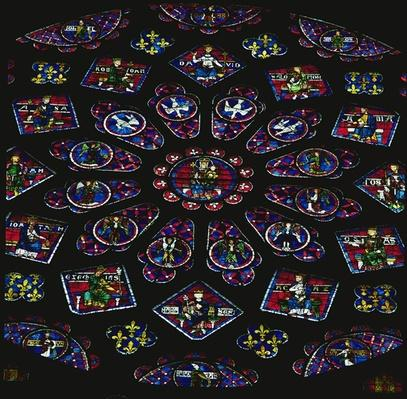 North rose window, glazed by 1234
