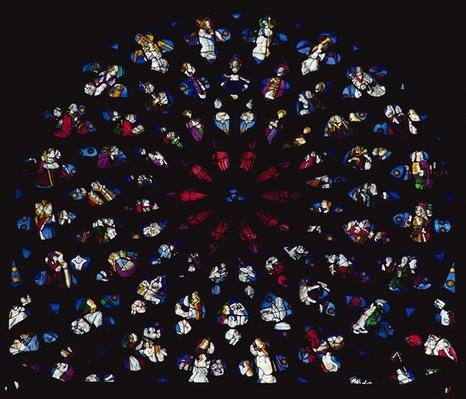 North rose window, early 16th century