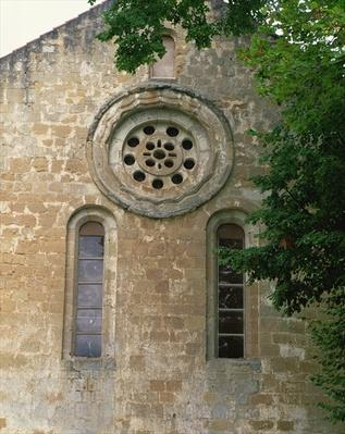 Facade with rose window, late 12th century