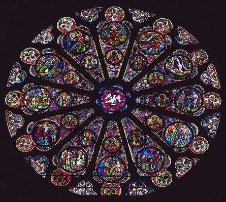 South rose window, 1235-40