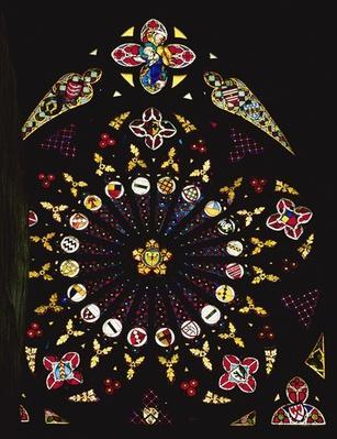 Five-fold rose window