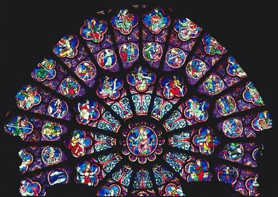 West rose window