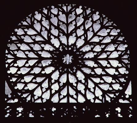 West rose window