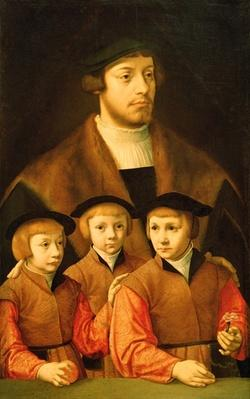 Portrait of a Man and His Three Sons, late 1530s-early 1540s