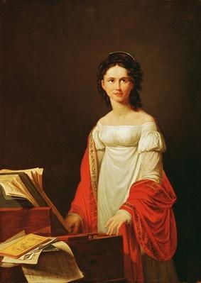 Portrait of the singer Anna Borunova, 1821