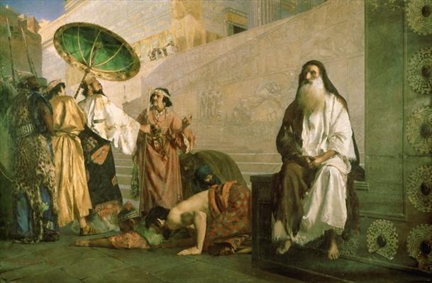 Haman and Mordechai, 1884