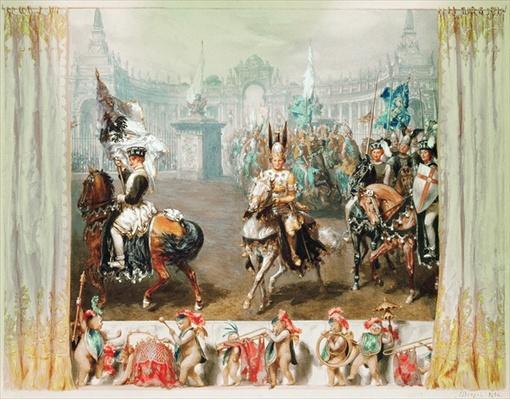 Knight tournament, 1854