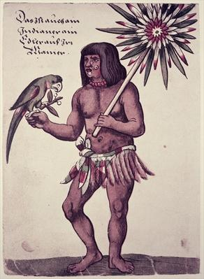 Amazon Indian, engraved by Theodore de Bry