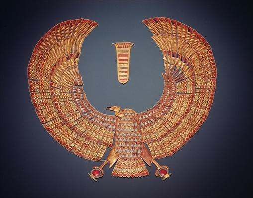 Collar in the form of the vulture goddess Nekhbet, from the tomb of Tutankhamun