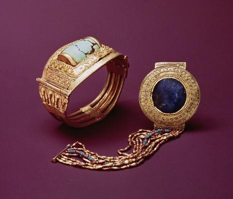 Two bracelets, from the Tomb of Tutankhamun