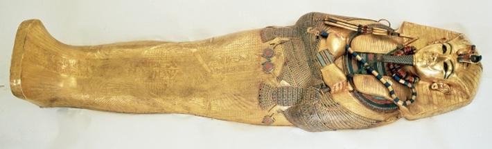 The innermost coffin of the king, from the Tomb of Tutankhamun