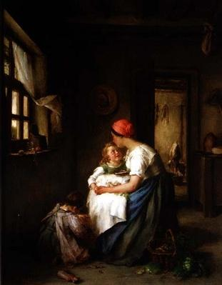Motherly cares, 1864