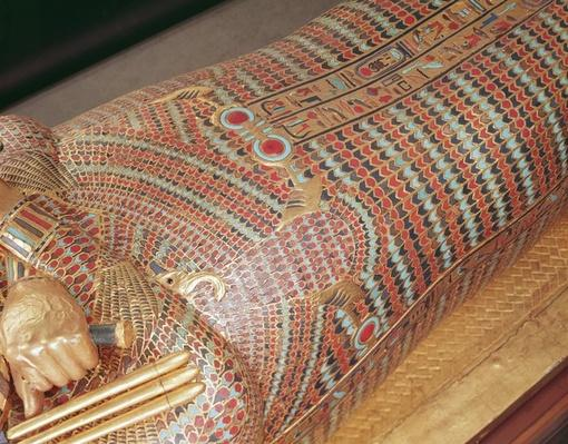 Detail of a canopic coffin from the Tomb of Tutankhamun