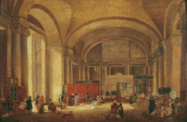 Print sellers at the entrance to Louvre, 1791