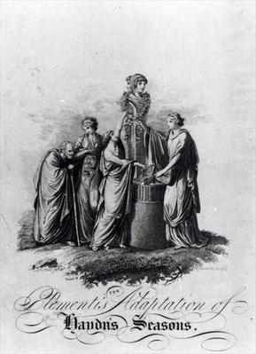 Title page of Muzio Clementi's adaptation for piano of Joseph Haydn's oratorio 'The Seasons'