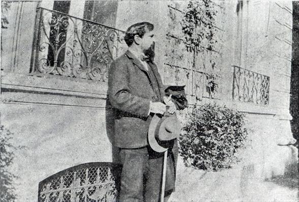 Claude Debussy in his garden