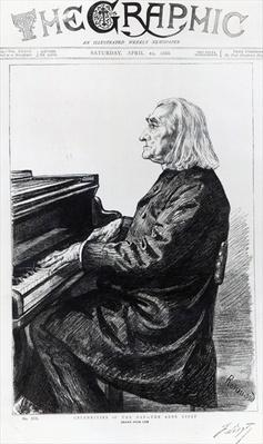Franz Liszt, cover of 'The Graphic', April 10th 1886