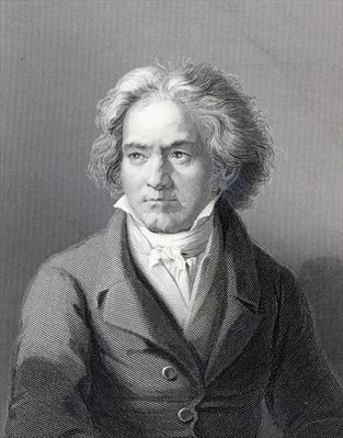 Ludwig van Beethoven, engraved by William Holl the Younger