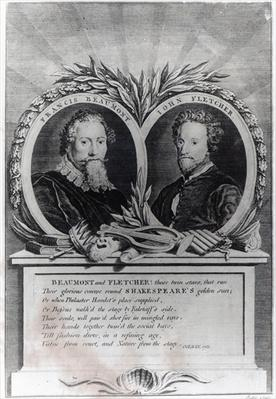 Francis Beaumont and John Fletcher, engraved by T. Ryder