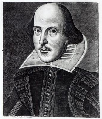 Portrait of William Shakespeare, engraved by Martin Droeshout, 1623