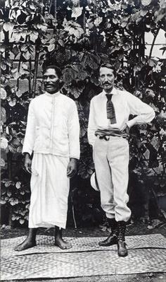 Robert Louis Stevenson and his friend Tuimale Aliifono