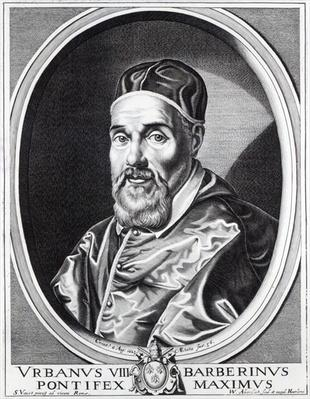 Pope Urban VIII, engraved by Willem Outgertsz Akersloot