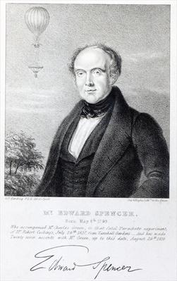 Mr. Edward Spencer, lithograph by Day & Haghe, 1839