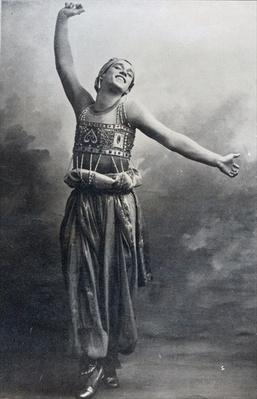 Vaslav Nijinsky in the role of the Black Slave from 'Scheherazade', 1910