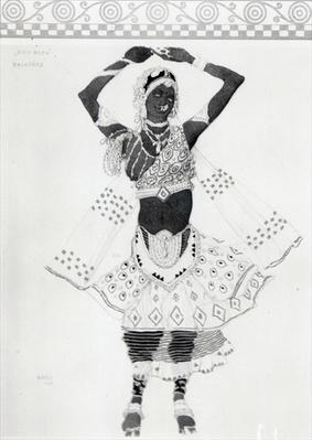 Costume design for 'Le Dieu Bleu', 1912